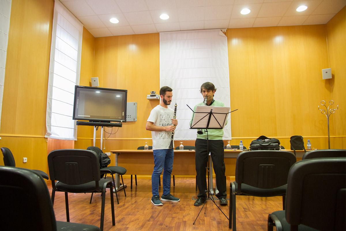 Clase particular Antonio Salguero CLARINETsur 2016