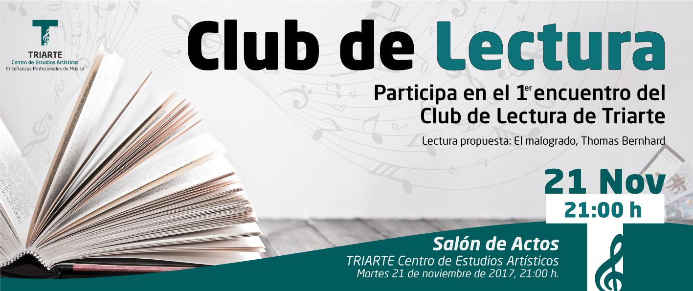 Primer encuentro del Club de Lectura de Triarte, Málaga.