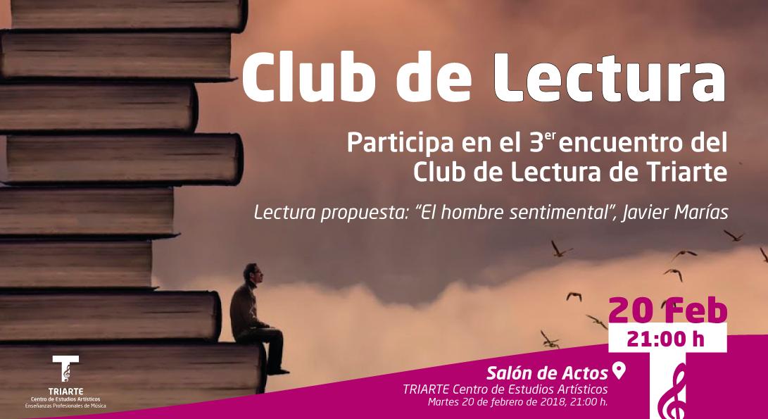 Tercer encuentro del Club de Lectura de Triarte, Málaga.