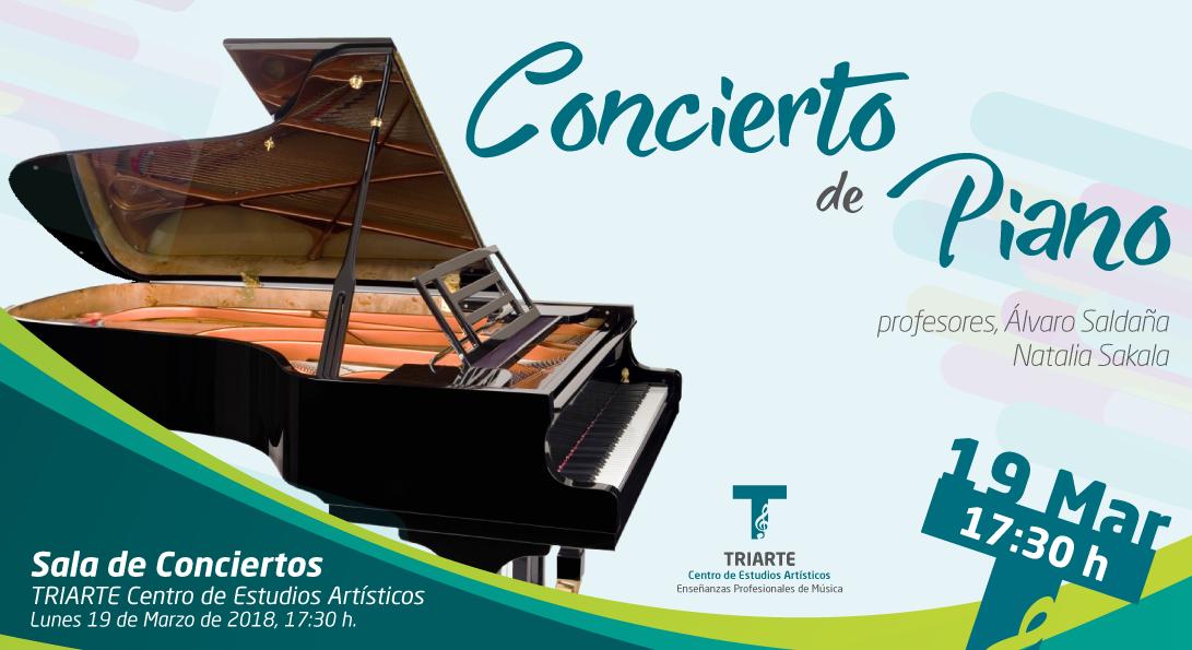 Concierto de Piano realizado por los alumnos de Triarte. Alumnos de Álvaro Saldaña y Natalia Sakala.