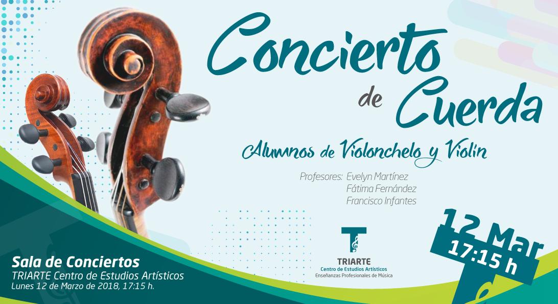 concierto de cuerda de Triarte. Violonchelo y Violín. Triarte - Centro de Estudios Artísticos Málaga. Conservatorio de Música. Clases de Violín y Violonchelo. Clases de Música, Málaga
