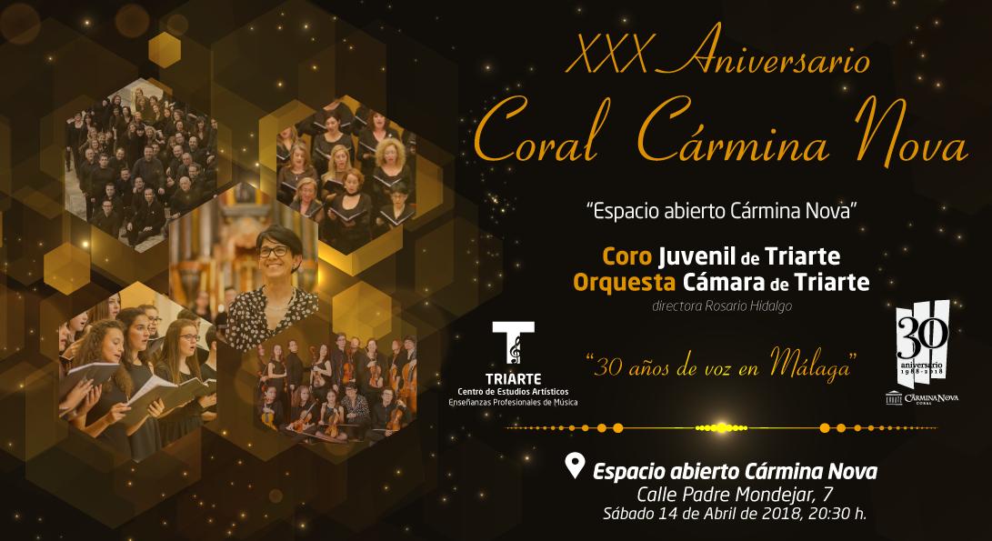 Concierto, Coro, Orquesta, Triarte, Carmina Nova. Málaga 2018