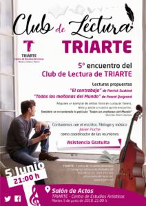Cartel de la V Edición del Club de Lectura de Triarte, Málaga.