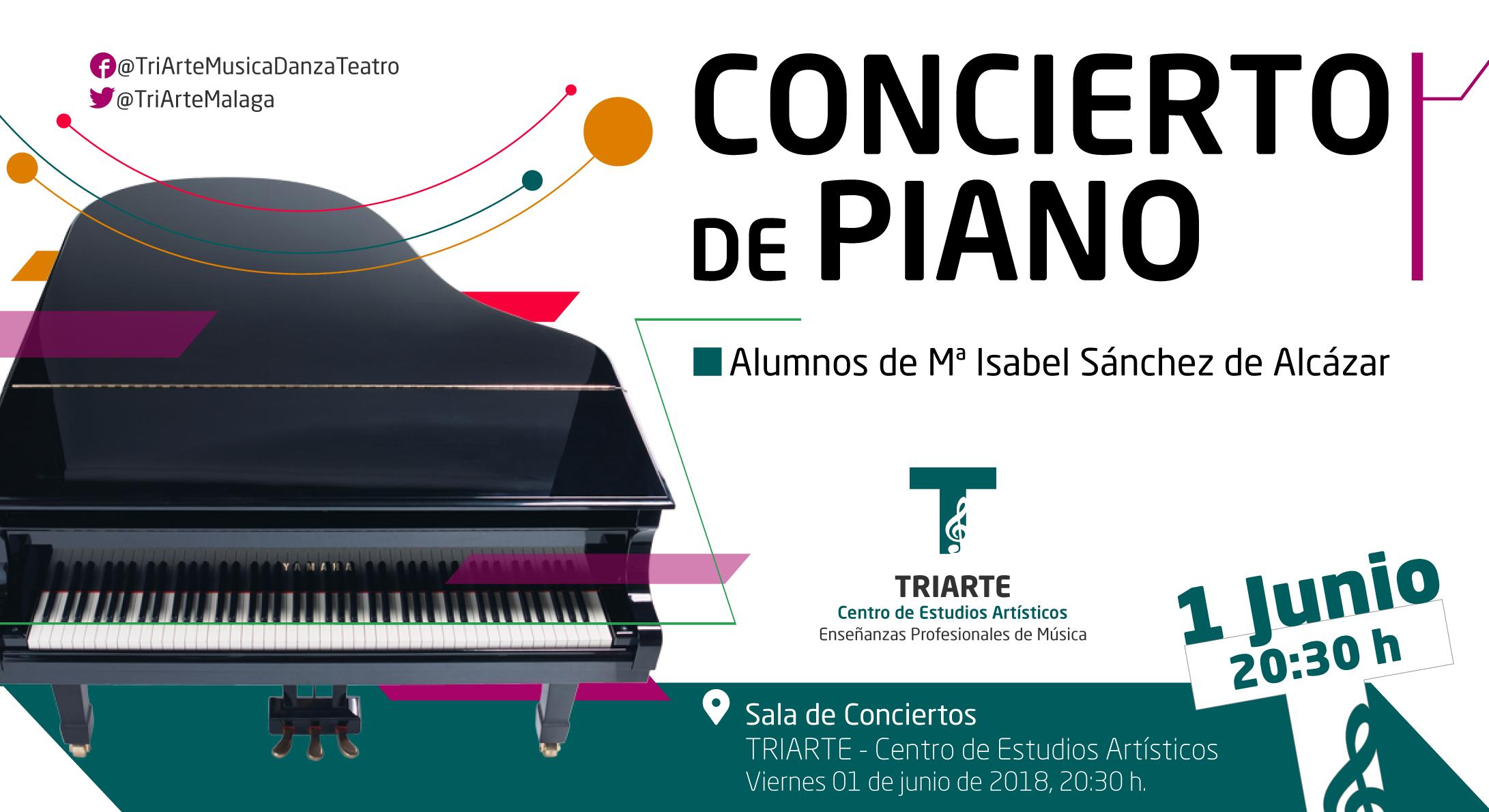Concierto de Piano. Alumnos de TRIARTE- Centro de Estudios Artísticos, Málaga.