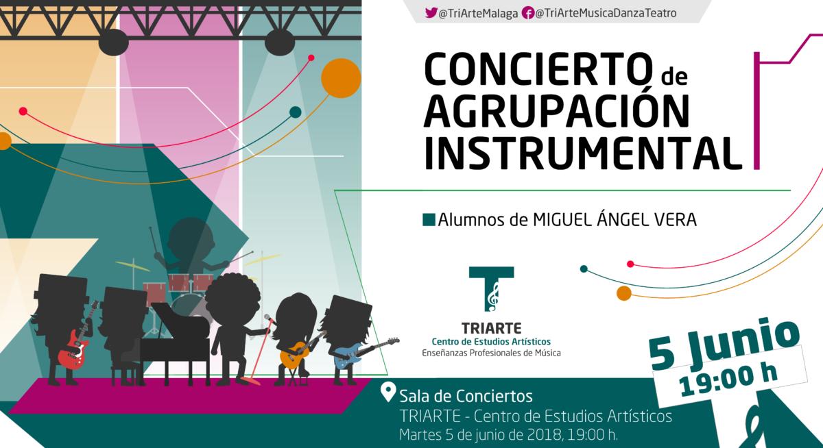 Concierto de Agrupación Instrumental. Alumnos de EPM de Triarte, Málaga.