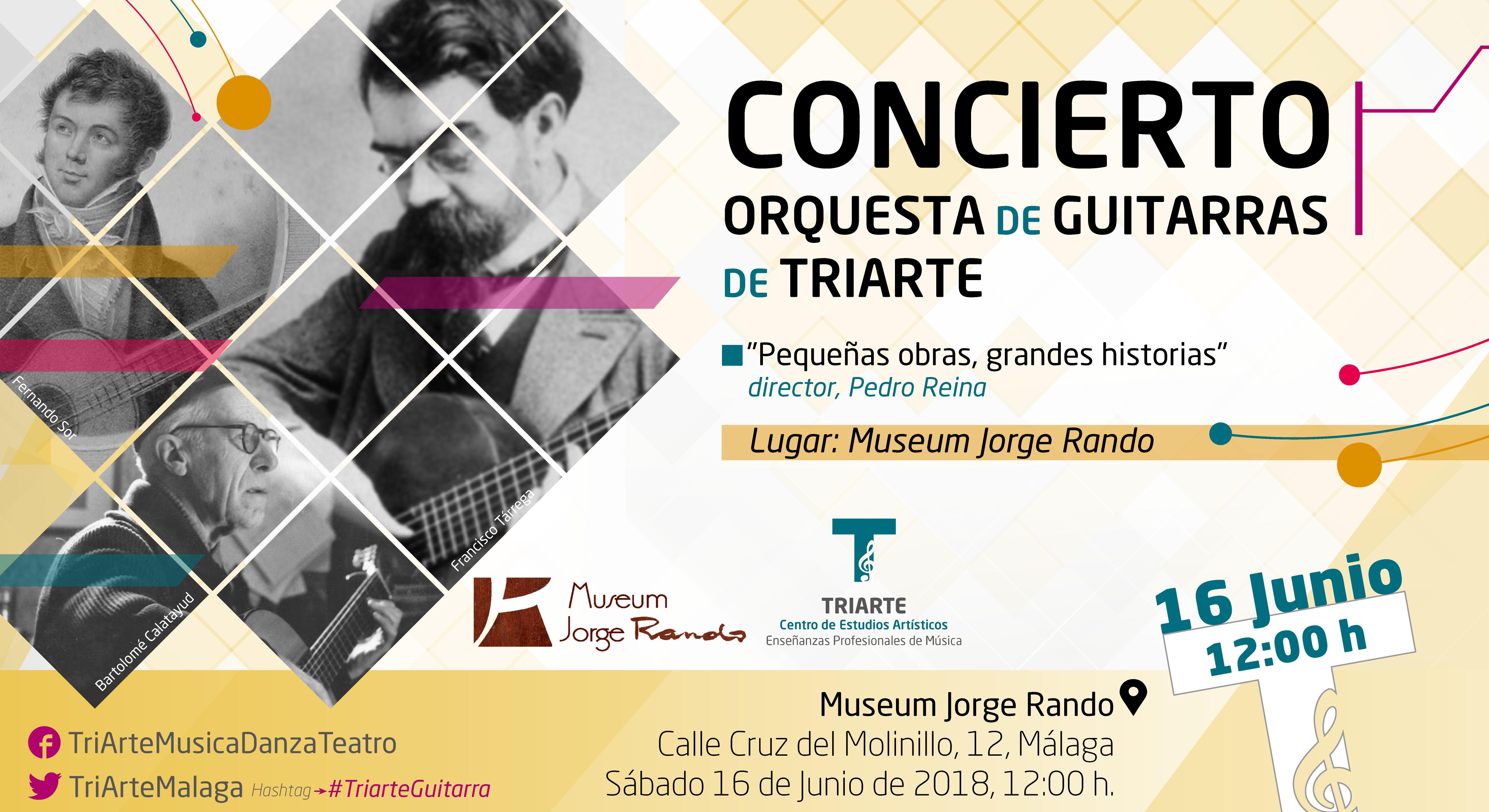 Orquesta de Guitarras de Triarte. Concierto en Museum Jorge Rando, Málaga. Fernando Sor, Tárrega, Bartolomé Calatayud
