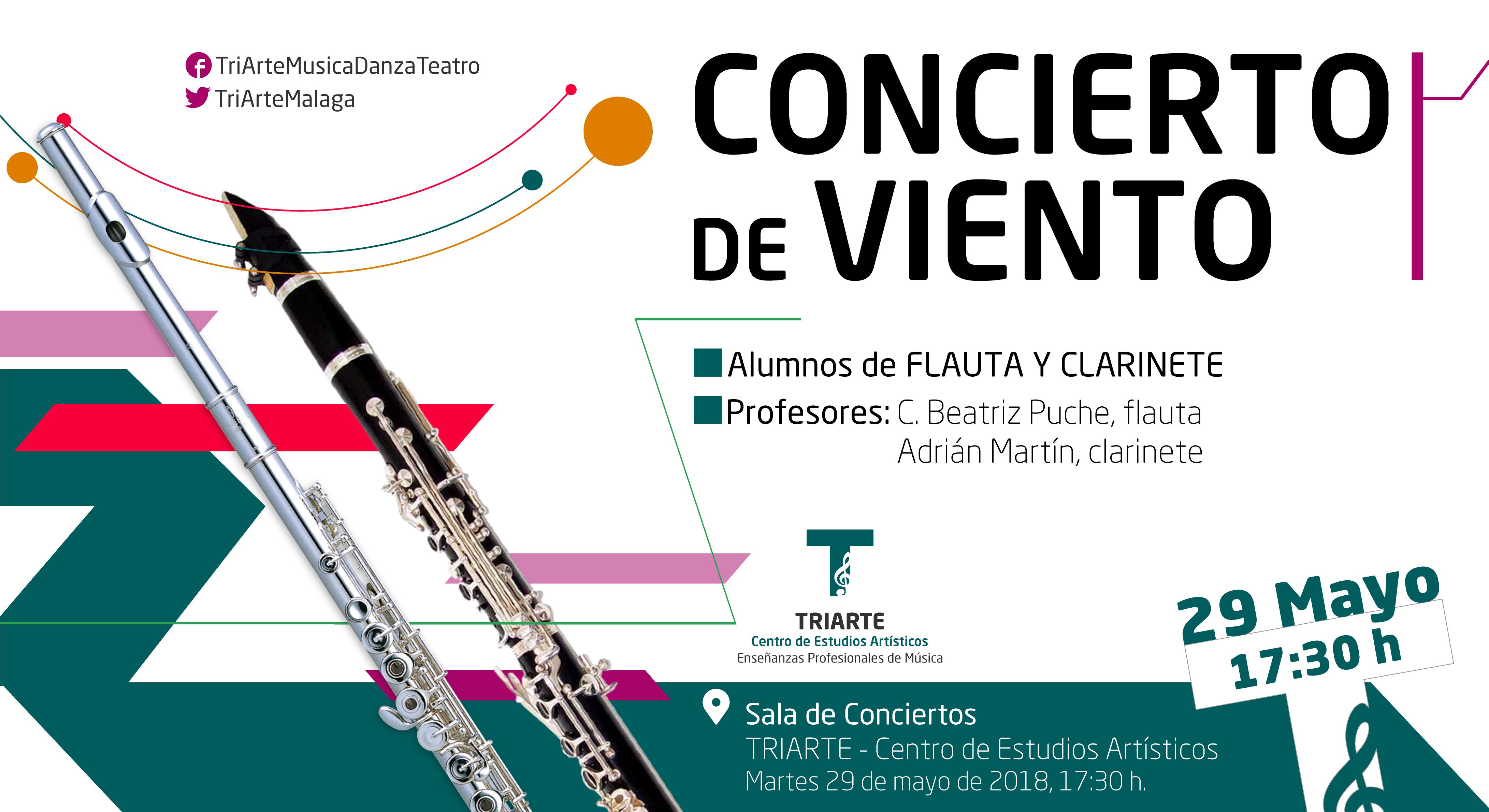 Concierto de Flauta, Clarinete y Saxofón. Triarte, Málaga