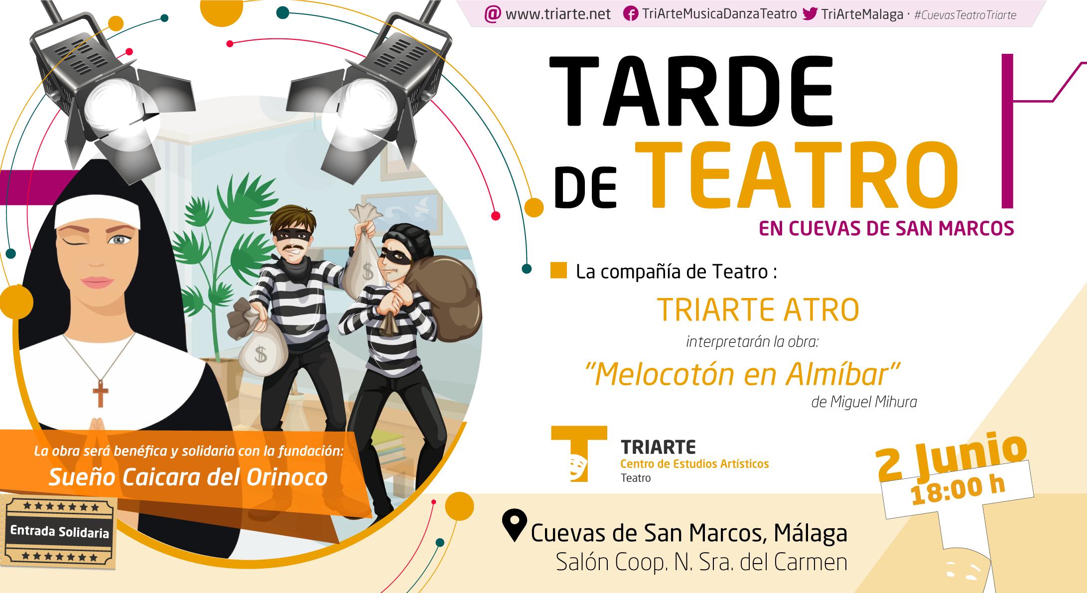 """Tarde de Teatro: TRIARTE ATRO presenta la obra """"Melocotón en Almíbar"""""""