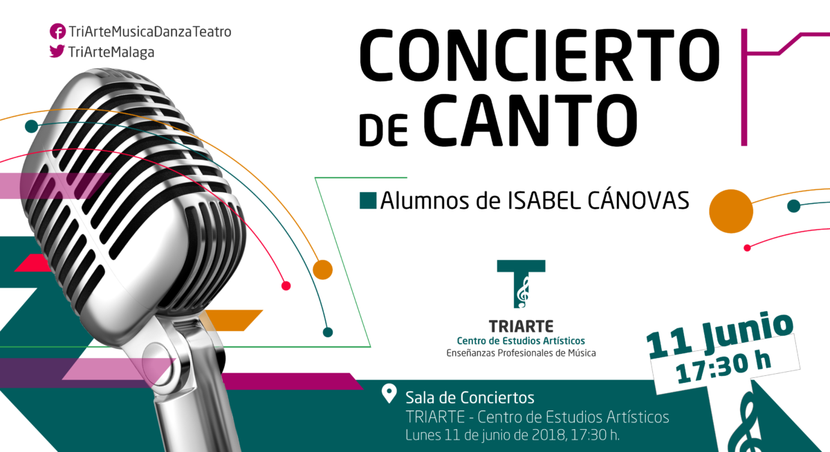 Concierto de Canto realizado en Triarte con motivo del Fin de Curso 2018.
