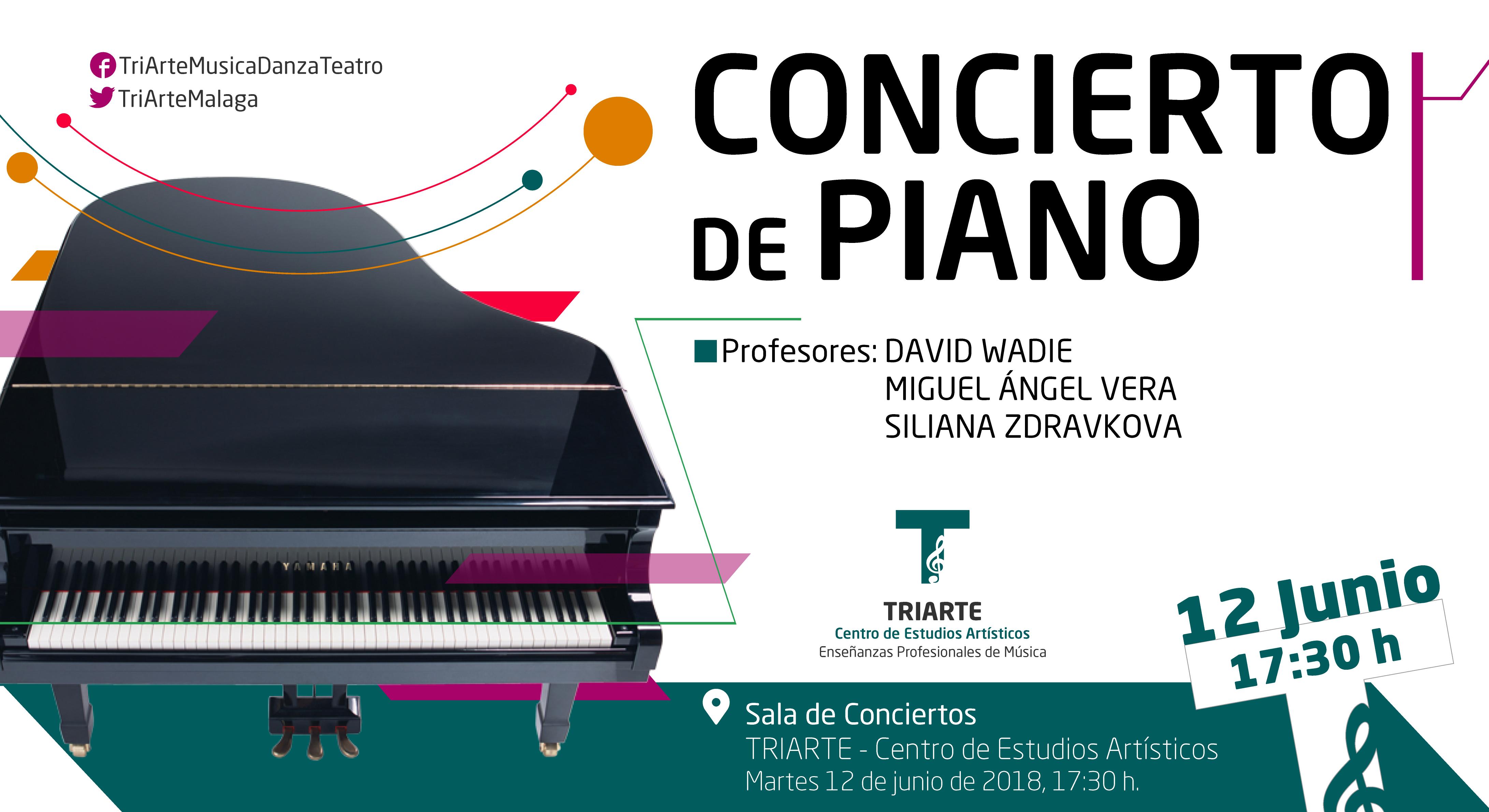 Concierto de Piano realizado en Triarte con motivo del Fin de Curso 2018.