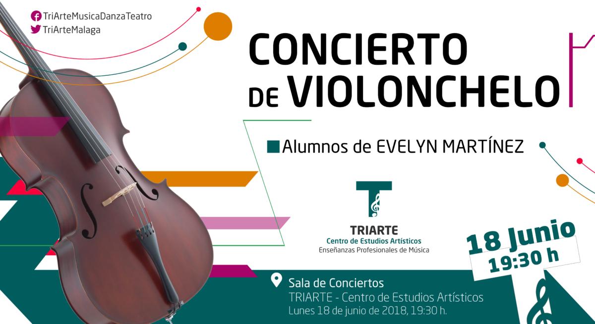 Concierto de Violonchelo. Alumnos de TRIARTE- Centro de Estudios Artísticos, Málaga.
