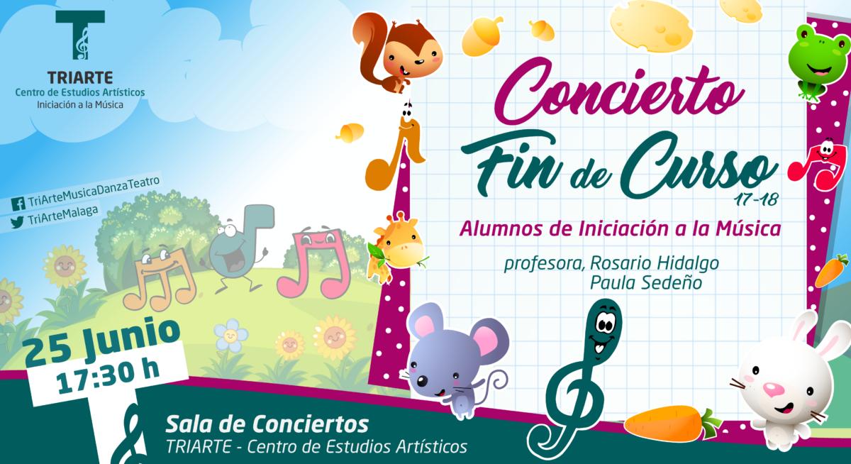 Concierto Fin de Curso. Iniciación a la Música. Triarte, Málaga. Clases de Música para niños de 4 a 7 años
