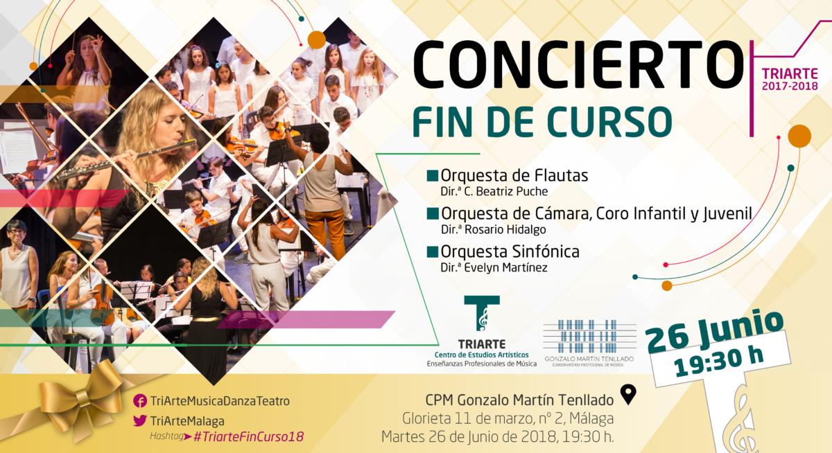 Concierto Fin de Curso 17-18. Triarte. Estudios de Enseñanzas Profesionales de Música en Málaga.