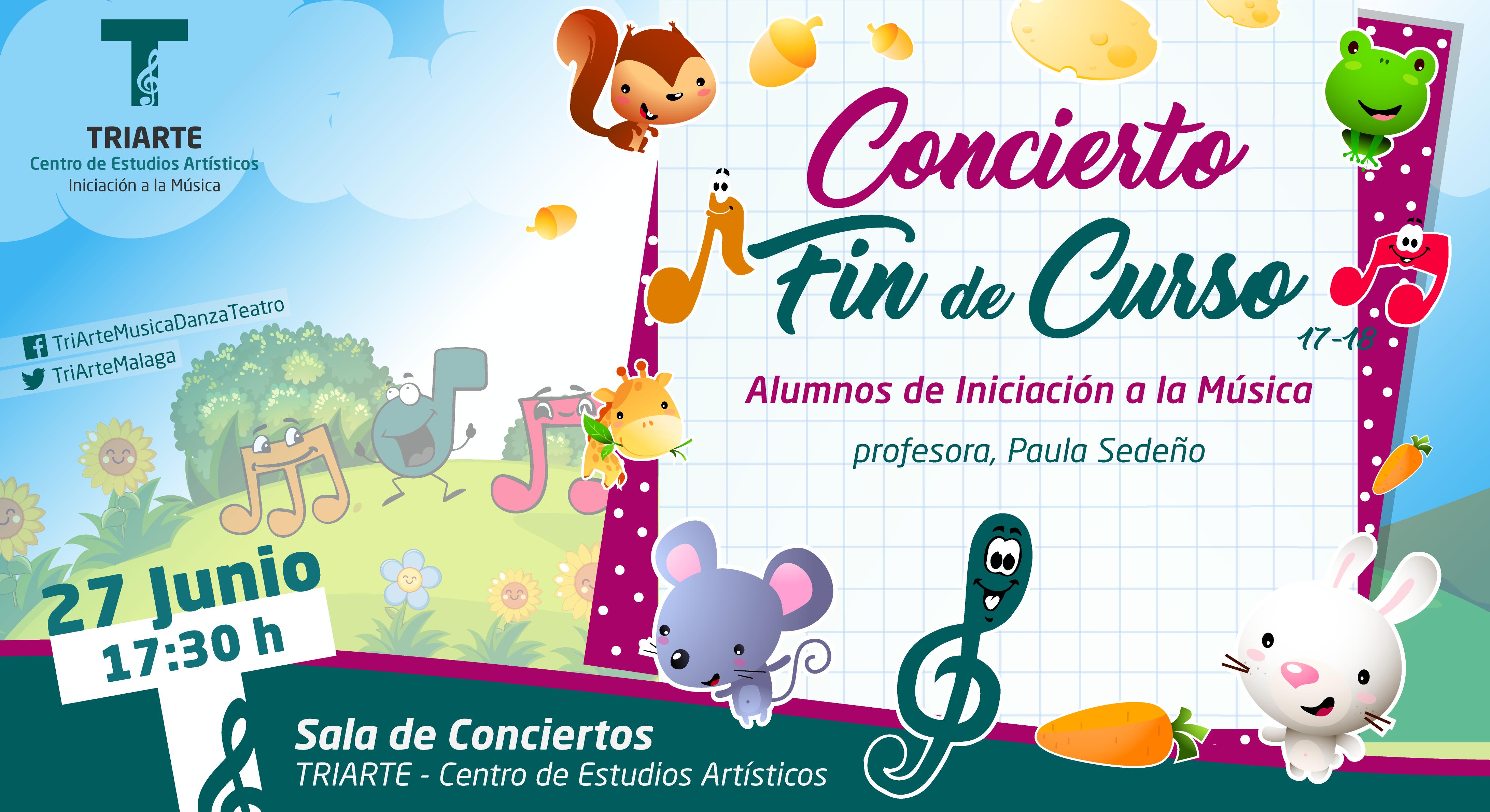 Concierto Fin de Curso. Iniciación a la Música. Triarte, Málaga. Clases de Música para niños de 3 a 6 años