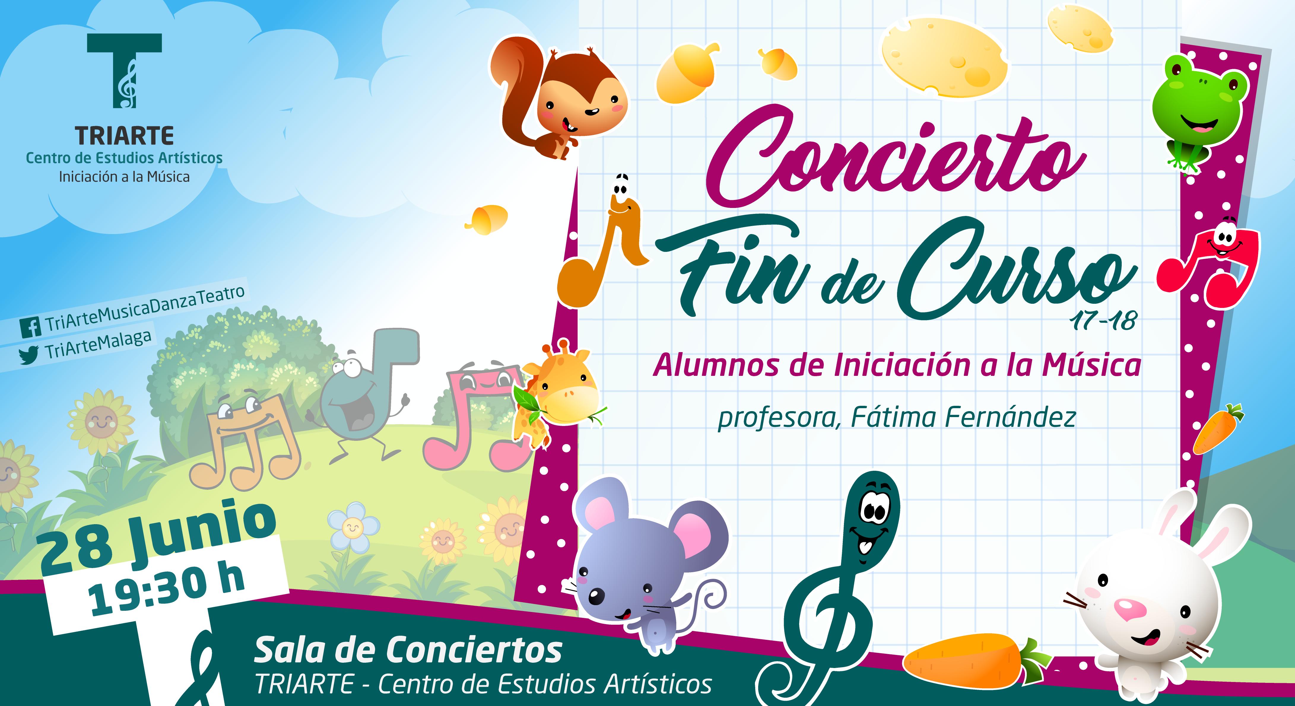 Concierto Fin de Curso. Iniciación a la Música. Triarte, Málaga. Clases de Música para niños de 6 a 7 años