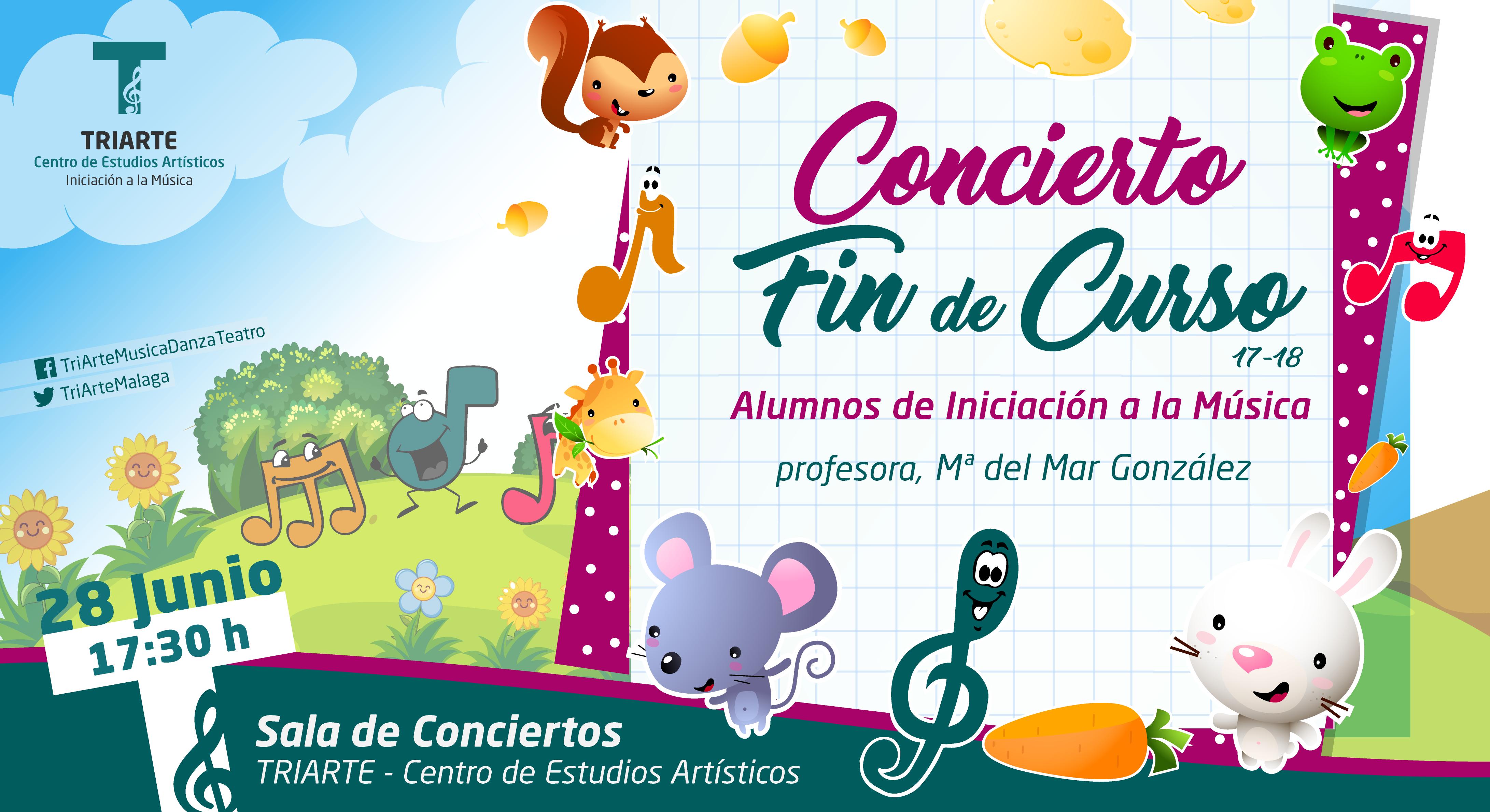 Concierto Fin de Curso. Iniciación a la Música. Triarte, Málaga. Clases de Música para niños de 4 a 5 años