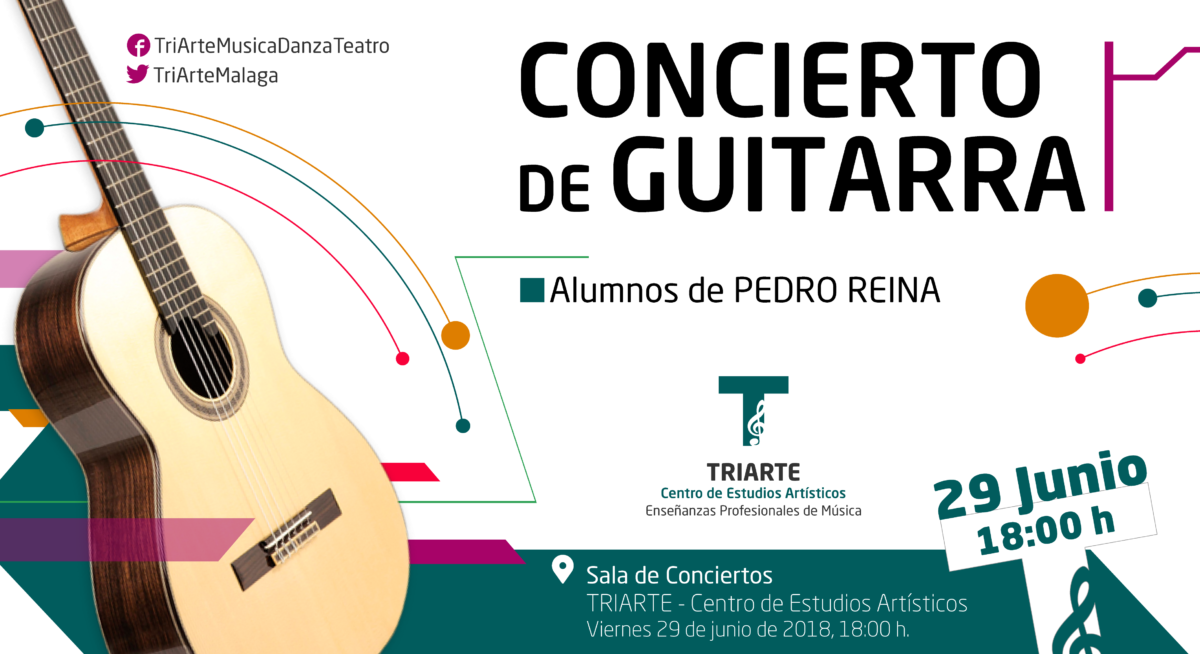 Concierto de guitarra Triarte, Málaga. Fin de Curso 2017/2018.