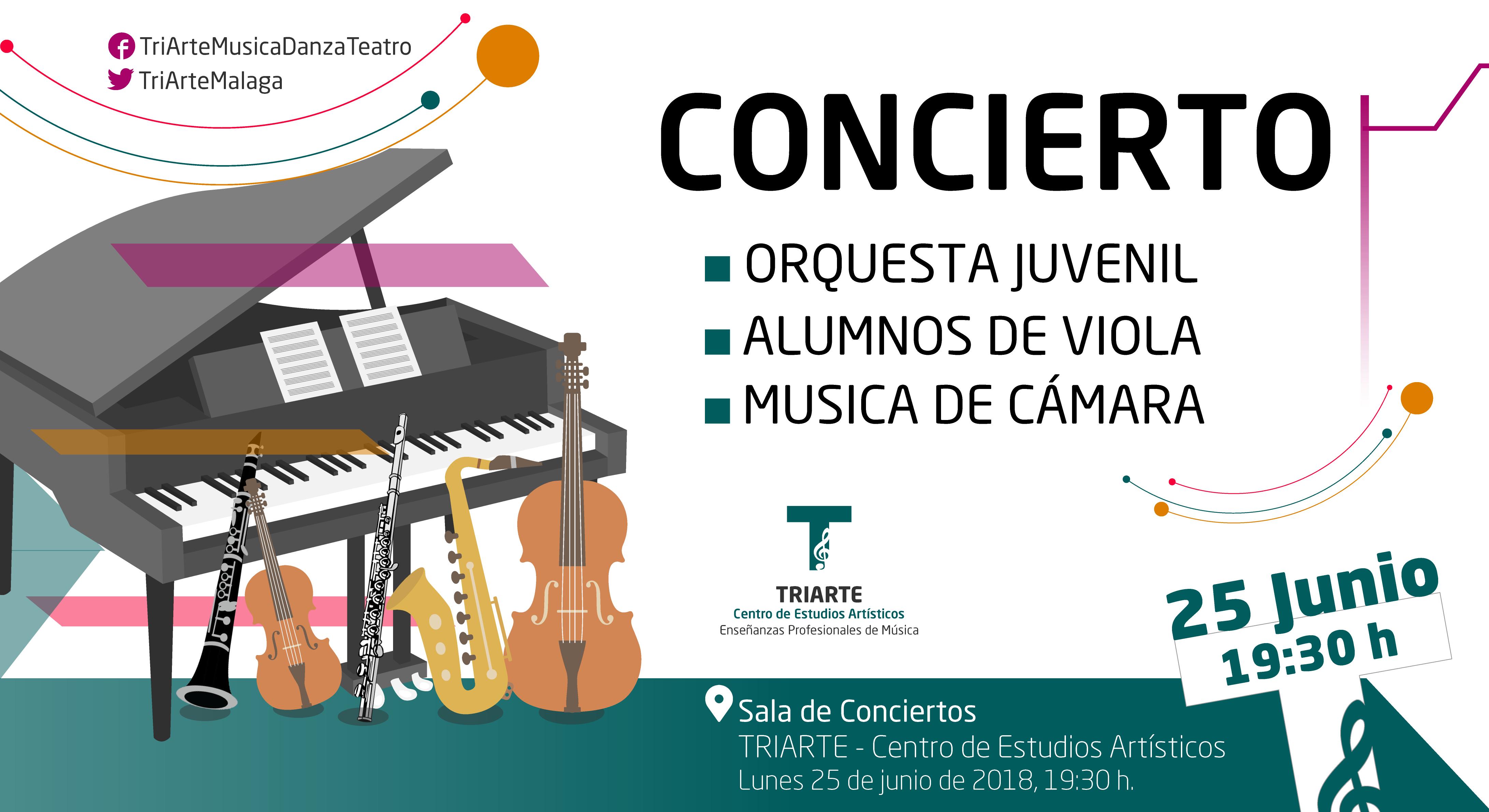Concierto de Alumnos de Viola, Orquesta Juvenil y Música de Cámara. Triarte, Málaga 2018