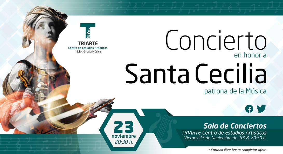 Concierto Santa Cecilia 2018. Triarte. Conservatorio de Música de Málaga.