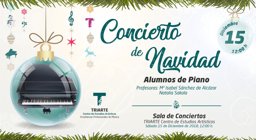 Concierto de Piano. Triarte - Centro de Estudios Artísticos. Navidad 2018. Profesor Natalia Sakala Y Mª Isabel Sánchez de Alcázar. Málaga 2018.