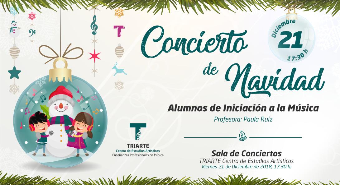 Concierto de Iniciación a la Música. Triarte - Centro de Estudios Artísticos. Navidad 2018. Profesoras Fátima Fernández y Rosario Hidalgo. Málaga 2018.