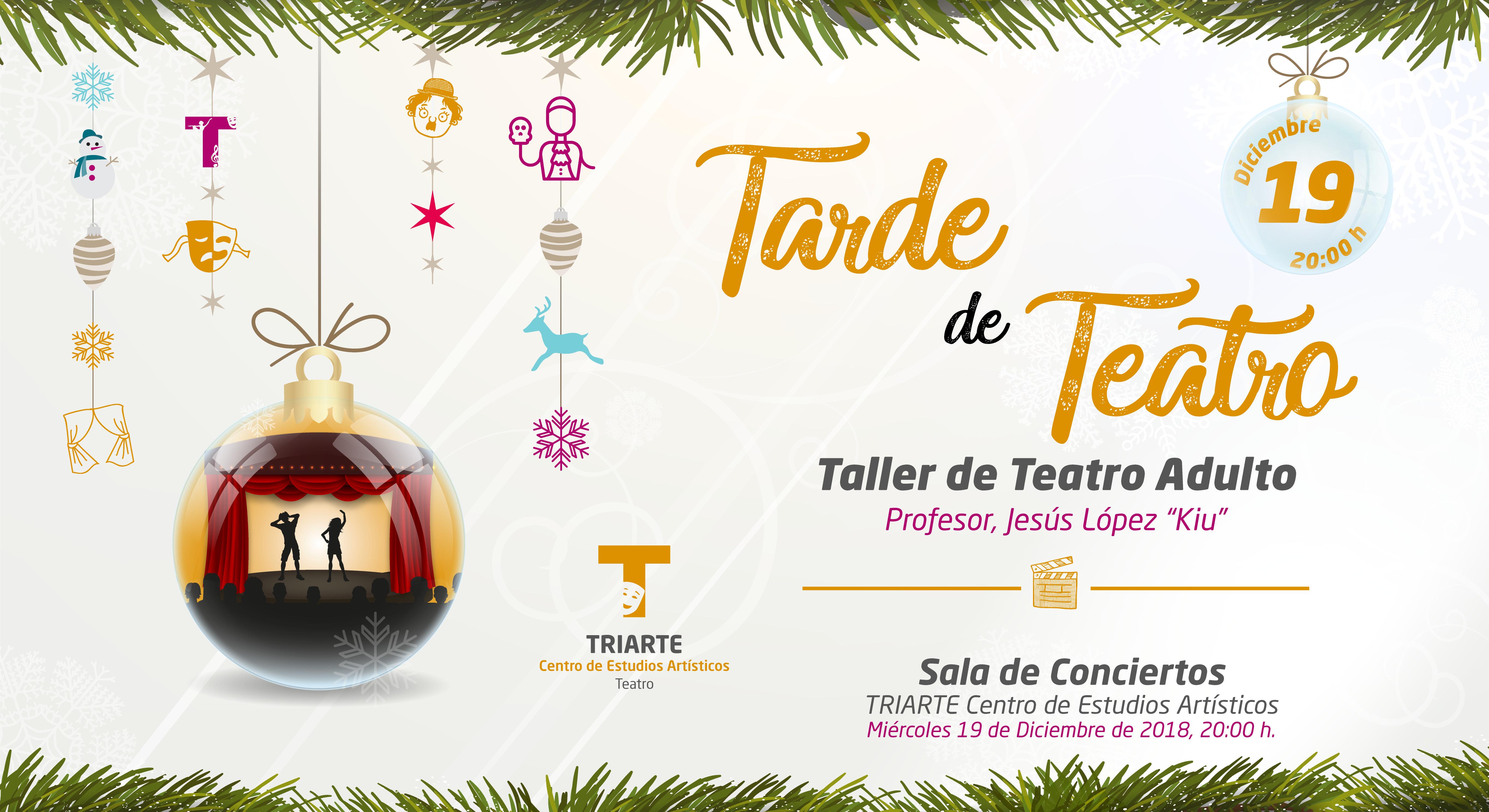 Interpretación Teatral. Alumnos de Triarte, Málaga. Navidad 2018.