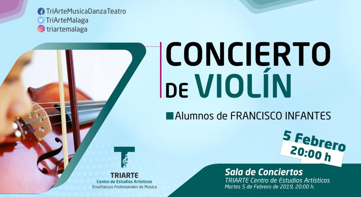Concierto de Violín, alumnos de Triarte Centro de Estudios Artísticos. Martes 5 de febrero de 2019.