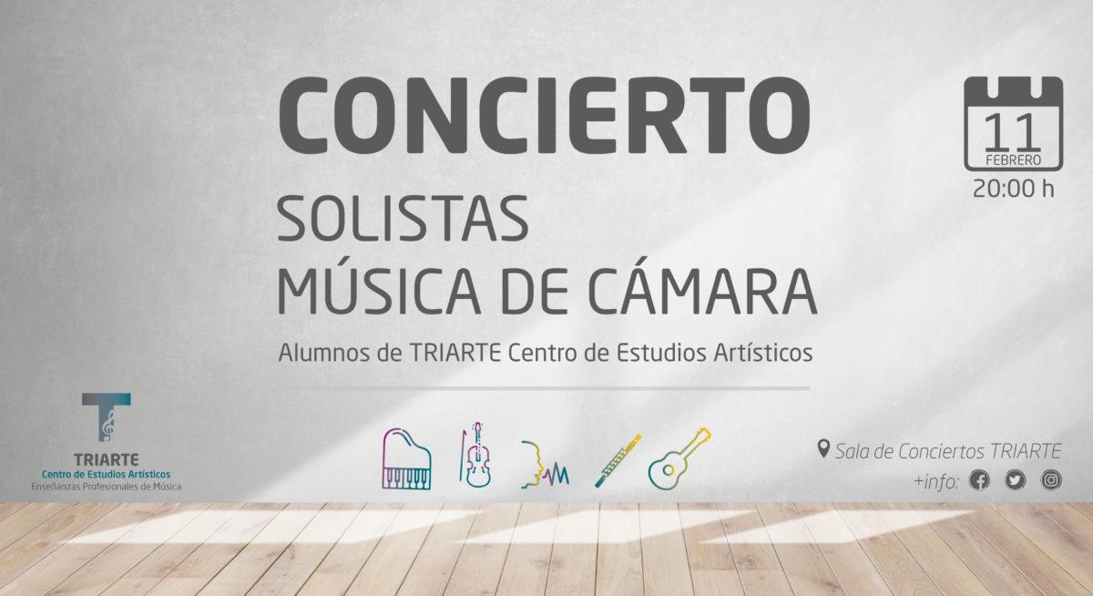 Concierto de Música de Cámara y Solistas - Triarte Málaga. Lunes 11 de febrero de 2019. Entrada Gratuita. Violín, Canto, Flauta, Guitarra y Piano.