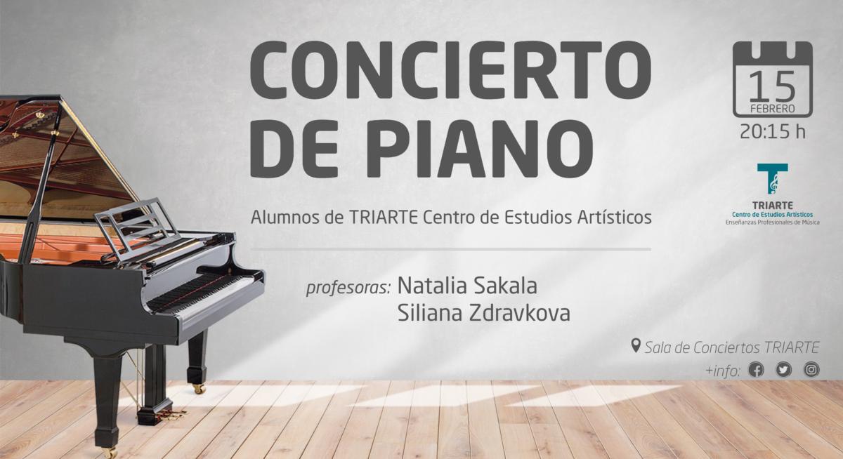 Concierto de Piano. Alumnos de TRIARTE Centro de Estudios Artísticos.