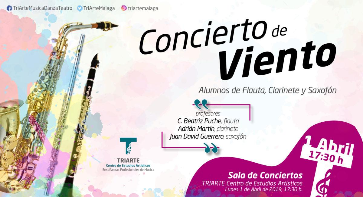 Concierto de Flauta y Clarinete. Alumnos de Juan David Guerrero, Beatriz Puche y Adrían Martín. Abril 2019