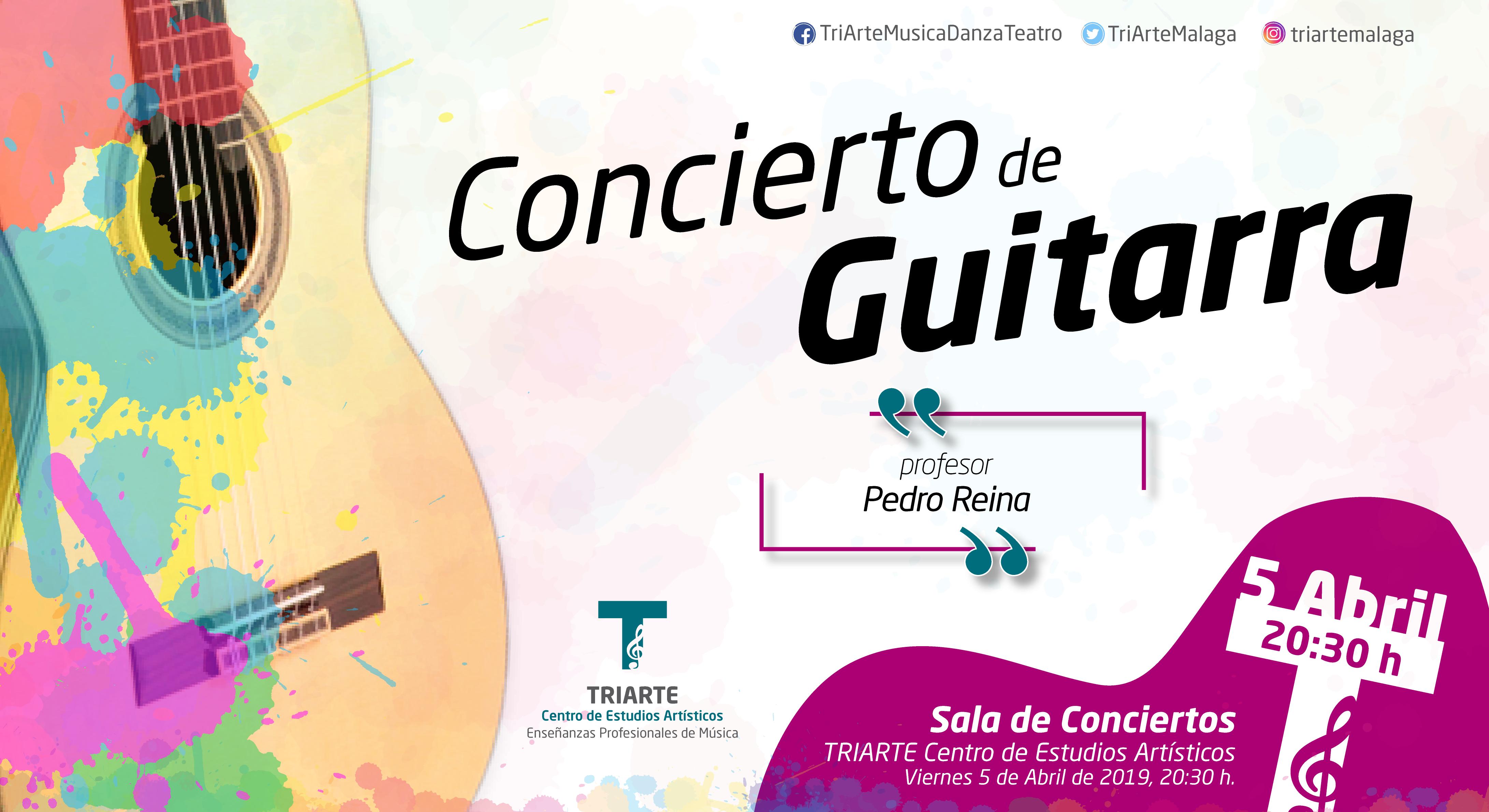 Concierto de guitarra. Alumnos de Pedro Reina. Abril 2019. TRIARTE, Málaga