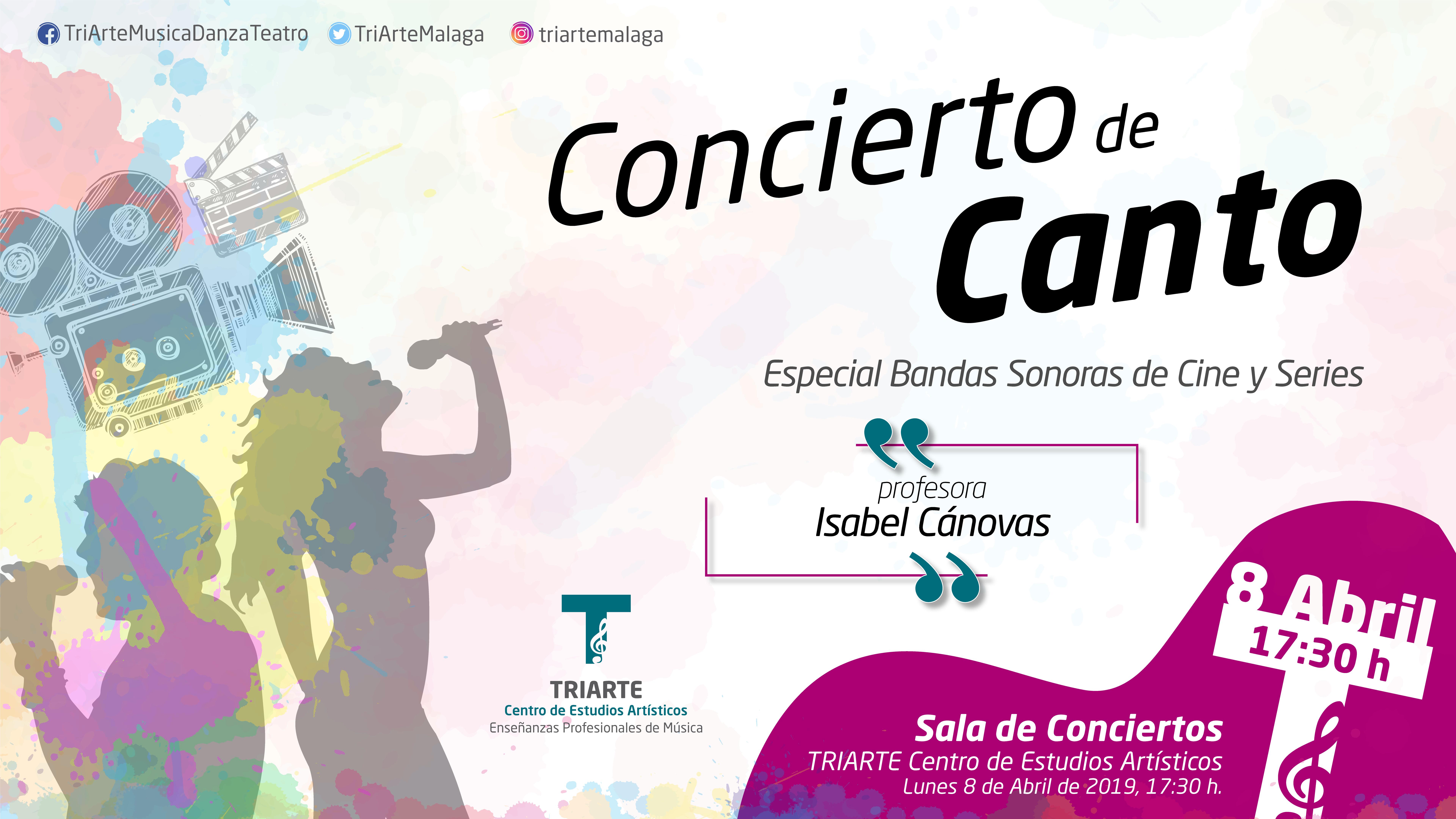 Concierto de Canto. alumnos de Isabel Cánovas. BSO de Series y Películas. Abril 2019.