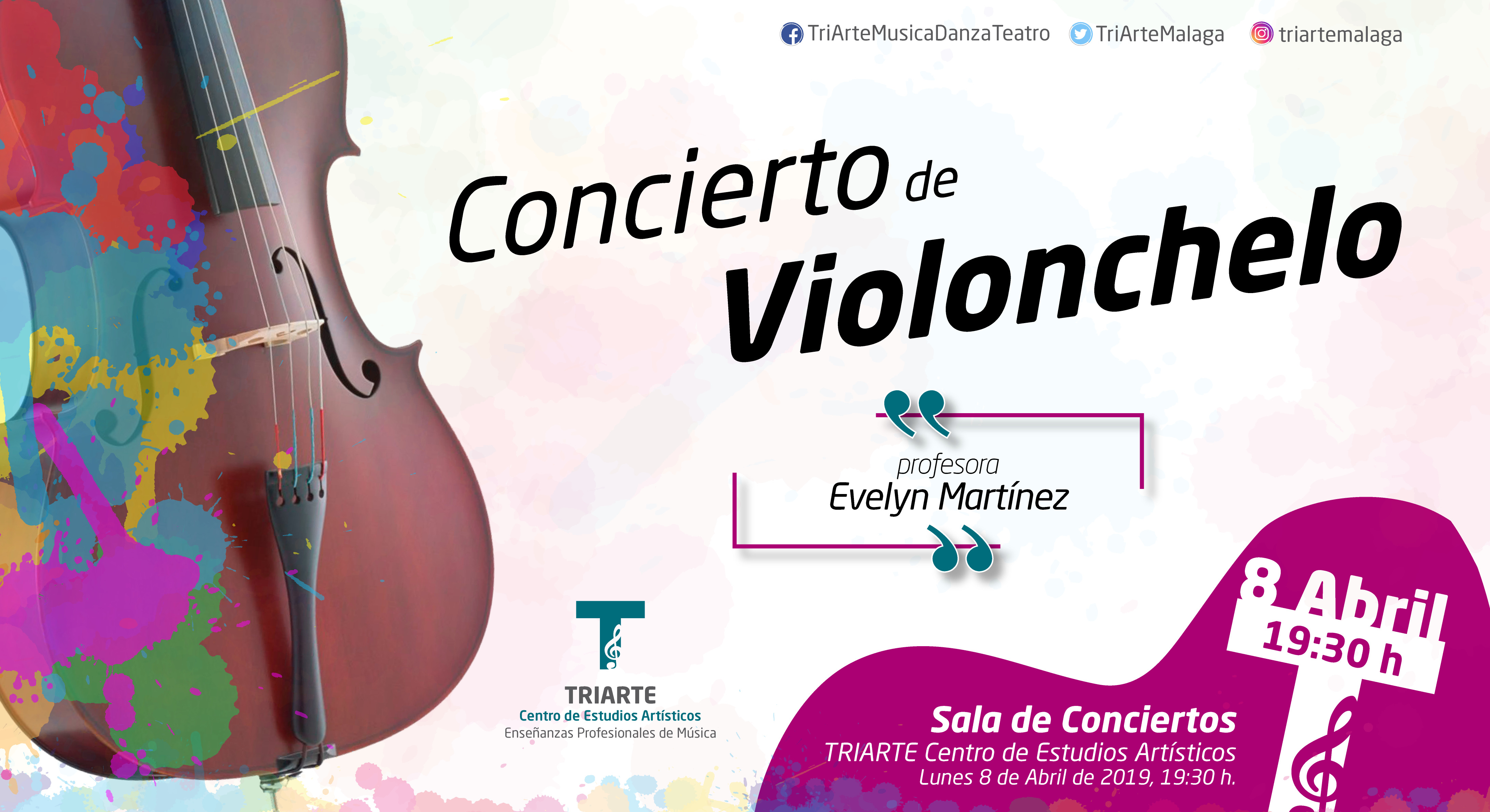 Concierto de Violonchelo. Alumnos de Evelyn Martínez. Abril 2019.