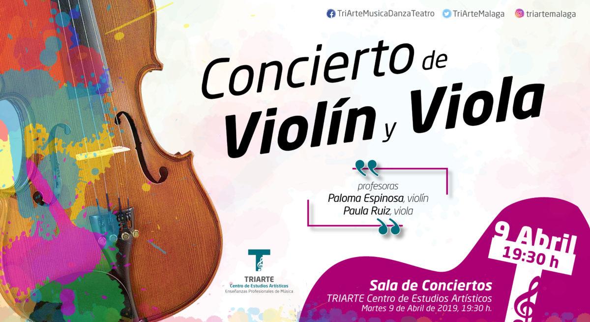 Concierto de Violín y Viola. ALumnos de Paloma Espinosa y Paula Ruiz. Triarte Abril 2019. Málaga.