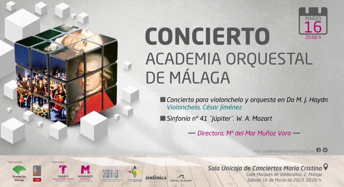 Concierto Academia Orquestal de Málaga. Marzo 2019. Sala Unicaja de Conciertos María Cristina.
