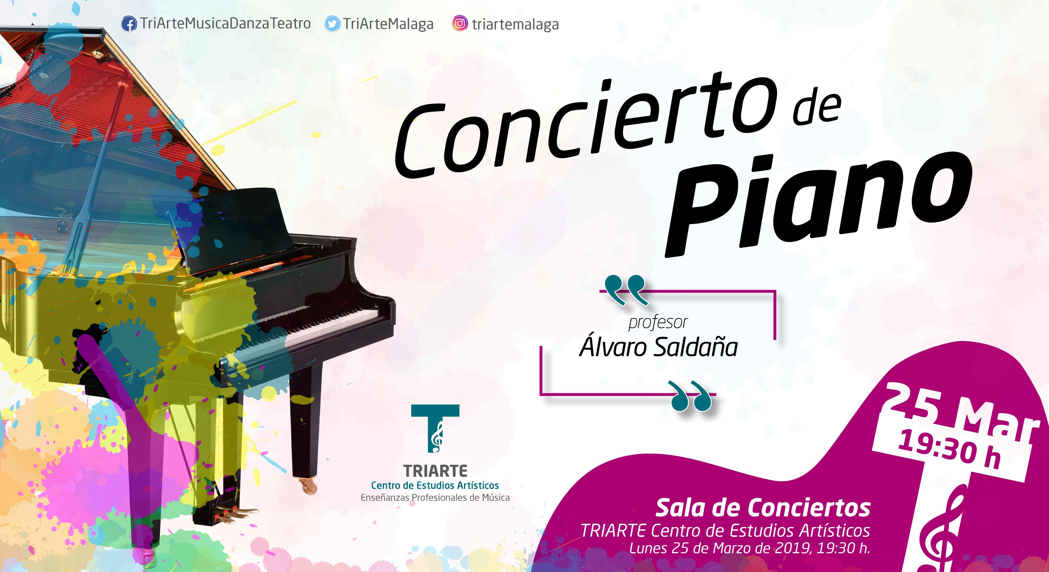 Concierto de Piano. TRIARTE - Centro de Estudios Artísticos. Profesor Álvaro Saldaña. Marzo 2019.