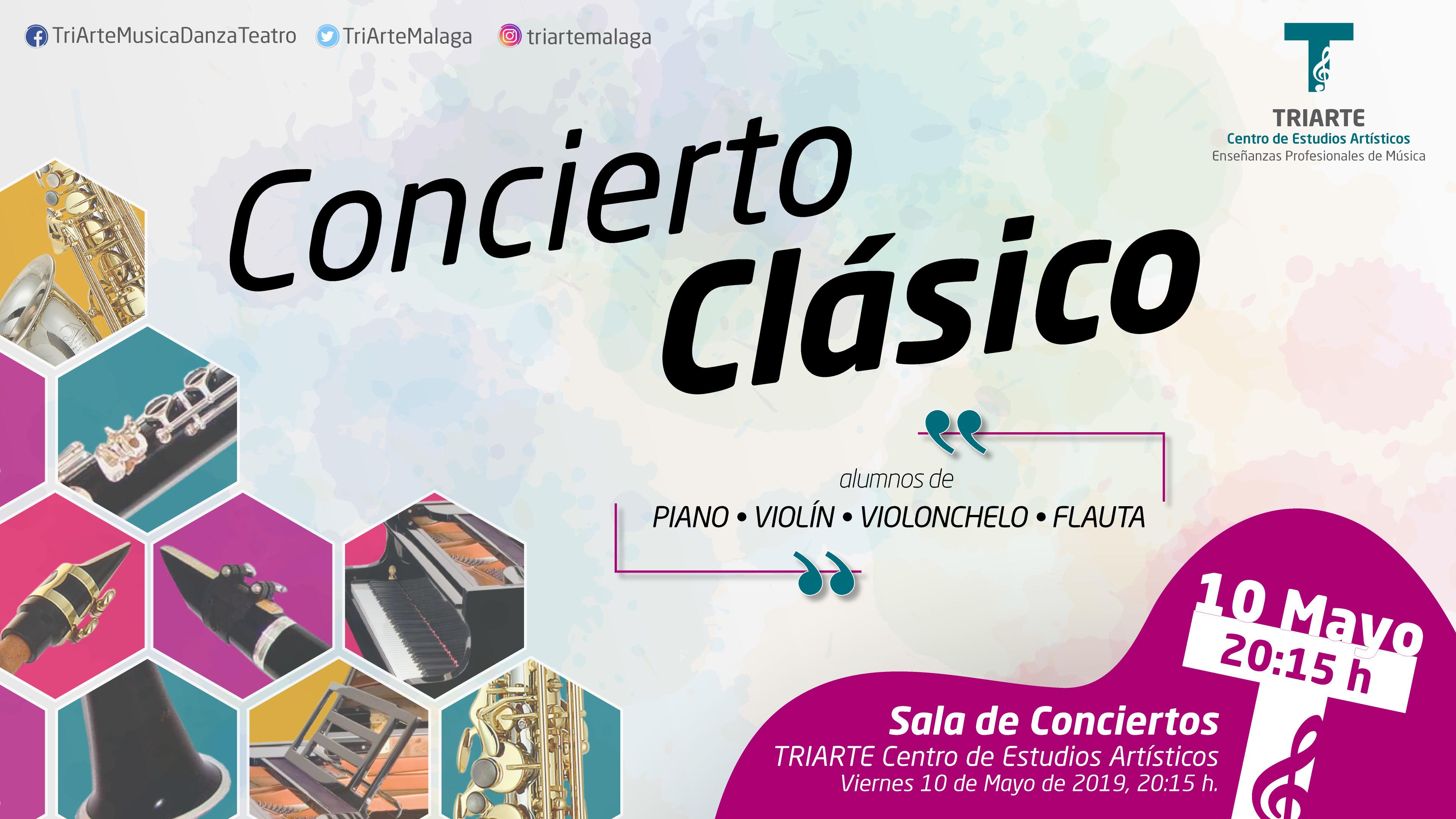 Concierto de Alumnos de Piano, Clarinete y Saxofón. Alumnos de 4 de Enseñanzas Básicas de Música