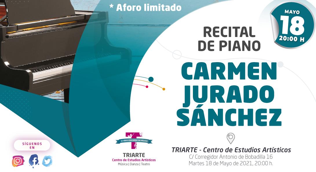Recital de Piano, Carmen Jurado Sánchez