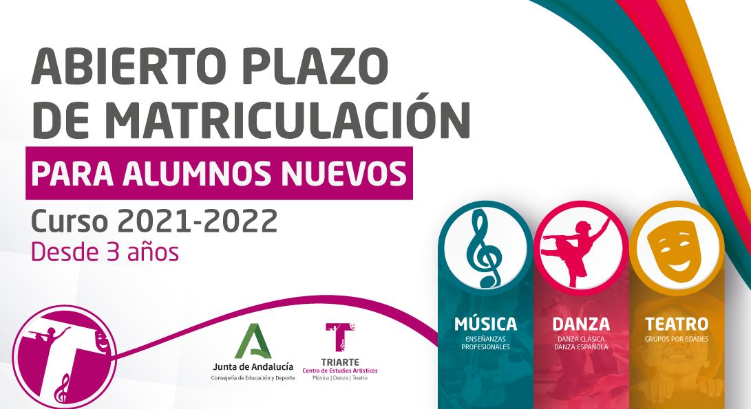 Matriculación Curso 2021 - 2022 Triarte